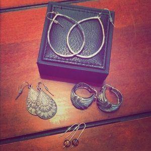 4 pairs of fun earrings